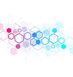 Hexagonal geometric background hexagons genetic vector