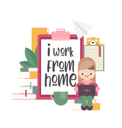 I work from home vector