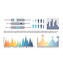 infographics with statistics and numerical data vector image