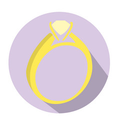 Isolated wedding ring vector