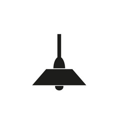 lamp of black icon vector image