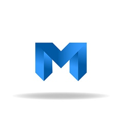M - blue letter web or business abstract logo vector
