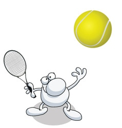 man tennis vector image