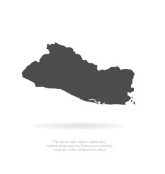 map salvador isolated black vector image