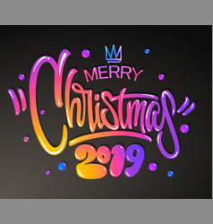 merry christmas 2019 year greetings card vector image