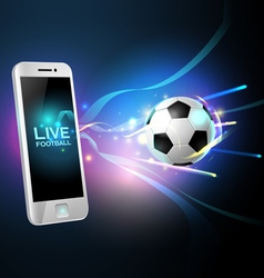 mobile football vector image