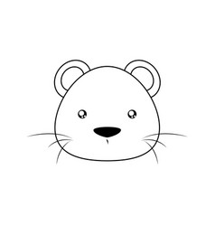 Mouse drawing face vector