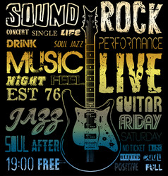 music poster graphic design vector image