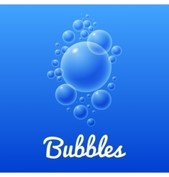 Ocean bubbles icon with text vector image