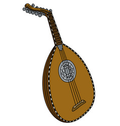 old stringed musical instrument vector image