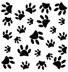 Paw print seamless vector