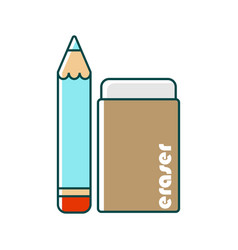 Pencil and eraser vector