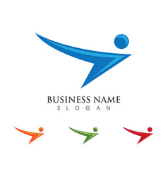 People logo template vector