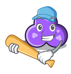 playing baseball trefoil character cartoon style vector image