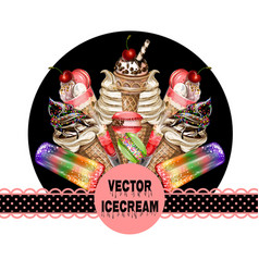 poster for site or print ice cream vector image