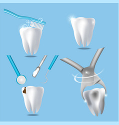Professional dental services concept vector