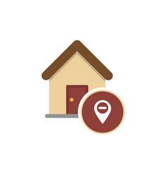 real estate pin symbol vector image