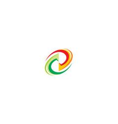 recycle icon logo vector image