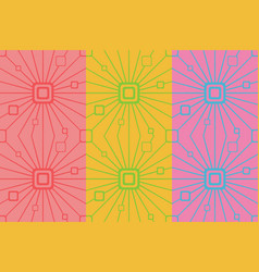 retro colorful seamless pattern simple ornament vector image