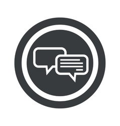 Round black chatting sign vector image