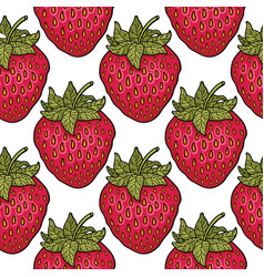 seamless pattern with strawberries graphic vector image