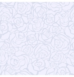 seamless retro background with white roses vector image