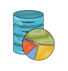 Server hosting storage icon colorful and available vector