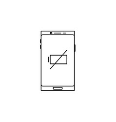 Smartphone empty battery icon vector