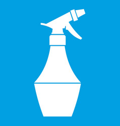 spray bottle for flower icon white vector image