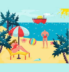 summer time vacation at beach vector image
