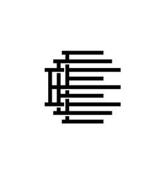 triple e monogram eee letter hipster lettermark vector image