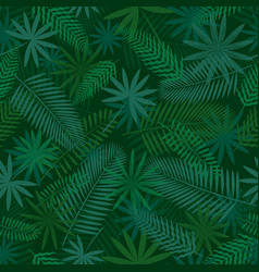 tropical jungle seamless pattern background vector image