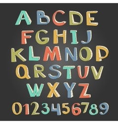 Unique alphabet and numbers vector image