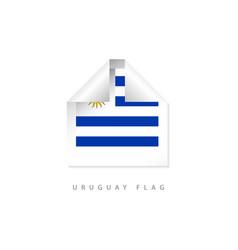Uruguay label flags template design vector
