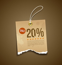 Vintage Label Ripped brown paper sale vector image