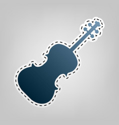 violine sign blue icon with vector image