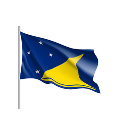 Waving flag of tokelau islands vector