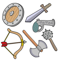 weapons collection vector image