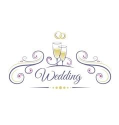 Wedding Decoration vector image
