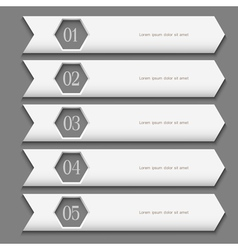 White Design template with stylized arrows vector image