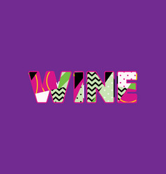 wine concept word art vector image