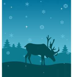 winter deer vector image