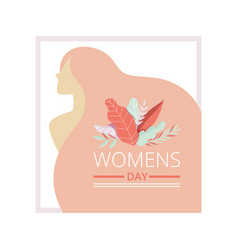 womens day floral greeting card with beautiful vector image