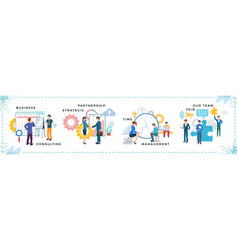 Worker partnership and business strategic vector
