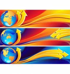 globe banner vector image vector image