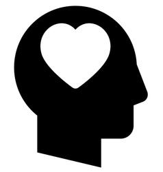 Man in love icon vector image vector image