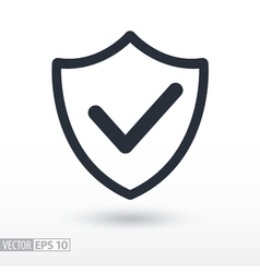 Quality is confirmed flat Icon Sign shield logo vector image vector image