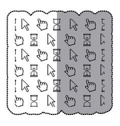 symbol computer set icon vector image