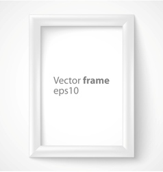 White rectangular 3d photo frame with shadow vector image