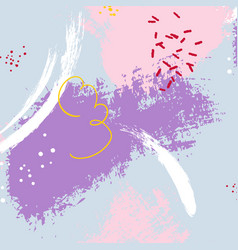 expressive minimalistic violet pattern vector image vector image